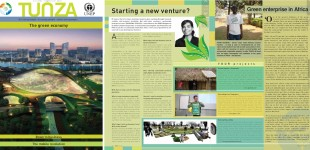"PM  en the UNEP magazine for youth TUNZA ""The Green economy"""